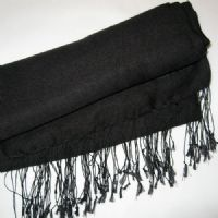 Black Watersilk Pashmina by Simply Devine